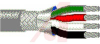 Cable; 4 cond; 24AWG; Strand (7X32); Foil+braid shielded; Chrome jkt; 500 ft. -- 70005276 -- View Larger Image