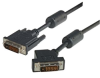 DVI-D Dual Link DVI Cable Male / Male 45 Degree Left, 1.0 ft -- MDA00036-1F - Image