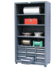 Combination Open Shelving with Drawers, 40