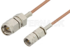 SMA Male to Reverse Thread SMA Male Cable 72 Inch Length Using RG178 Coax, RoHS -- PE35363LF-72 -Image