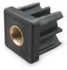 Square Tube End, 3/8-16 Thread -- 1XEX1