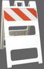 Plasticade® Type I White Barricade -- 100-WT8DG
