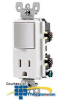 Leviton Decora Switch and Receptacle Combination 15 Amp,.. -- T5625 - Image