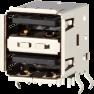 Dual USB A Modular Jack -- AJT25g4423-001 - Image