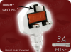 BS 1363 UK3 WHITE to IEC-60320-C7 WHITE HOME • Power Cords • International Power Cords • UK Power Cords -- 9657.039W - Image