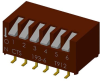 DIP Switches -- 193-6MSN-ND - Image
