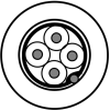 RS-232, 4C #24 Str TC, PO ins, OS, LSZH Jkt, 300V, Dca -- 9534NH - Image