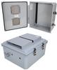 14x12x06 Polycarbonate Weatherproof Outdoor IP24 NEMA 3R Enclosure, 120 VAC Modified Base DIN Rail Mount Vented Lid DKGY -- TEPC141206-00VDR -Image
