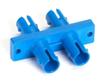 Fiber Optic Coupling, ST-ST, Rectangular Mounting, Multimode, Duplex, Bronze Sleeve, Plastic Flange -- FOT112