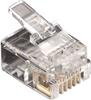 RJ11 Unshielded Modular Plug 6-Wire 10-Pack -- FMTP611-10PAK -- View Larger Image