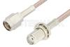 SMA Male to SMA Female Bulkhead Cable 18 Inch Length Using 75 Ohm RG179 Coax, RoHS -- PE3967LF-18 -Image