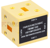 WR-28 Magic Tee Waveguide Using UG-599/U Square Cover Flange and Operating from 26.5 GHz to 40 GHz -- FMWMT1005 - Image