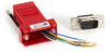 DB9 Colored Modular Adapter (Unassembled), Male to RJ-11, 6-Wire, Red -- FA780 - Image