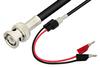 BNC Male to Mini Banana Plug Cable 60 Inch Length Using 75 Ohm RG59 Coax -- PE33559-60 -Image