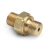 """G 1/8"""" male BSPP (ISO 228/1) x male Quick-test, no check-valve, brass -- QTHA-1MB0-RS -- View Larger Image"""