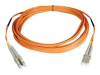 100FT 30M FIBER OPTIC MMF LC/LC50/125 DUPLEX PLENU -- N520-30M-P - Image