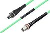 Temperature Conditioned SMA Female Bulkhead to TNC Female Bulkhead Low Loss Cable 18 Inch Length Using PE-P142LL Coax -- PE3M0147-18 -Image