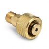 """1/2"""" tube fitting x male Quick-test, no check-valve, brass -- QTHA-4TB0 -- View Larger Image"""