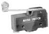 BE Series Standard Basic Switch, Single Pole Double Throw Circuitry, 25 A at 250 Vac, Roller Lever Actuator (Stainless Steel Roller), 0,99 N [3.5 oz] Operating Force, Screw Termination, Silver Contact -- BE-2RV2-A4 - Image