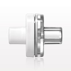 Check Valve, White Inlet, Clear Outlet -- 80173 -Image