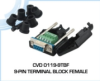 Female 9-Pin Terminal Block Connector -- CVD 0119-9TBF