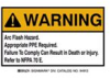 Safety Warning Label Polyester Warning - Arc Flash Hazard -- 75447394913-1