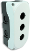 Lovato Electric LPZP3A8 3-Hole Control Station Enclosure, White -- 44151