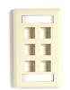 6-port Ivory Single-Gang Keystone Wallplate -- WPT478 - Image