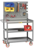 Mobile Work Center,w/Pegboard,54x24x35 -- 3MW-2448-5TL-PB