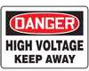MELC040VA - Safety Sign, Danger - High Voltage Keep Away, 10