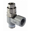 Metal Body Swivel Flow Control Pilot Check Valve with Female Thread