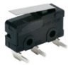 MICRO SWITCH ZM Series Subminiature Basic Switch, SPDT, 125 Vac/30 Vdc, 0.1 A, Straight Lever Actuator, PCB Right Angle Termination -- ZM10E50B01 -Image