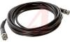 Cable Assy; 180 in.; 20 AWG; RG58C/U; Non Booted; Black Jacket; UL Listed -- 70197386