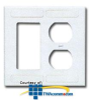 Siemon Double Gang Designer/Duplex Faceplate -- DRE-D-02