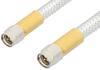SMA Male to SMA Male Cable 18 Inch Length Using PE-SR401FL Coax, RoHS -- PE34188LF-18 -Image