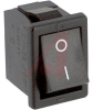 Switch, Snap-In POWER Rocker, ON-NONE-OFF, BLACK HOUSING, 6A @ 250VAC -- 70191994