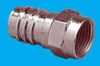 F-59ALH for RG-6 Quad with Attached 1/2in Crimp Ring -- 25-7036