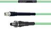 Temperature Conditioned Low Loss SMA Male to SMA Female Bulkhead Cable LL142 Coax in 18 Inch -- FMHR0127-18 -Image