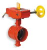 Butterfly Valve,Grooved,4 In,Iron -- 3DVX9