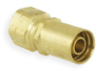 Industrial Hydraulic Crimp Fitting – MS Series Permanent SAE 45D Swivel -- 108MS-6-6