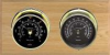 Catalina - Wireless, Brass cases, Black dials, Oak panel