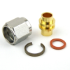 SMA Male Connector Solder (Without Contact) Attachment For RG402, RG402 Tinned, .141 SR Cable -- SC3042 -Image