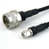 N Male to SMA Male Cable LMR-240-UF Coax in 48 Inch with Times Microwave Connectors -- FMC0102245-48 -Image