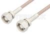 75 Ohm SMC Plug to 75 Ohm SMC Plug Cable 48 Inch Length Using 75 Ohm RG179 Coax, RoHS -- PE3376LF-48 -Image