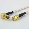 SMA Female to RA SMB Plug Cable RG-316 Coax in 12 Inch -- FMC1326315-12 -Image