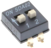 DIP Switches -- 108-SDA02H1SBDRCT-ND - Image