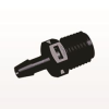 Straight Connector, Barbed, Black -- N8S631 -Image