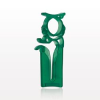 Open Jaw Slide Clamp with Tubing Holder, Green -- 12101 -Image