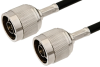 N Male to N Male Cable 24 Inch Length Using RG58 Coax, RoHS -- PE3441LF-24 -Image