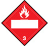 Brady B-120 Fiberglass Reinforced Polyester Square Red Truck Placards Sign - TEXT: FLAMMABLE 3 - 60409 -- 754476-60409